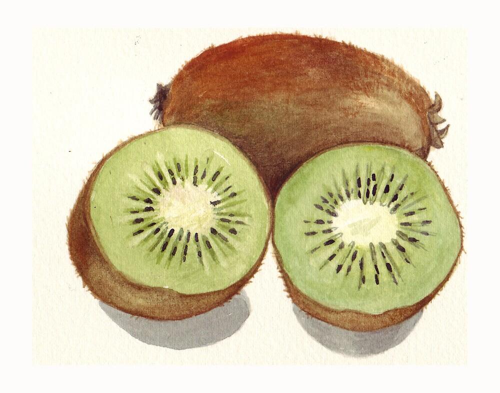 Sliced Kiwi Fruit by Maureen Sparling