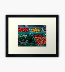 FRUIT AND VEGETABLES Framed Print