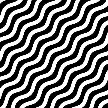 Pattern - Lines Black and White by HogarthArts