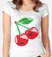 Cherry berry Women's Fitted Scoop T-Shirt