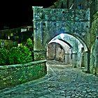 Medieval Streets of an Italian Village at Night by Mario Curcio