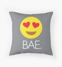 Bae Heart Eyes Emoji Throw Pillow