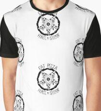 Eat Pizza Hail Satan Graphic T-Shirt