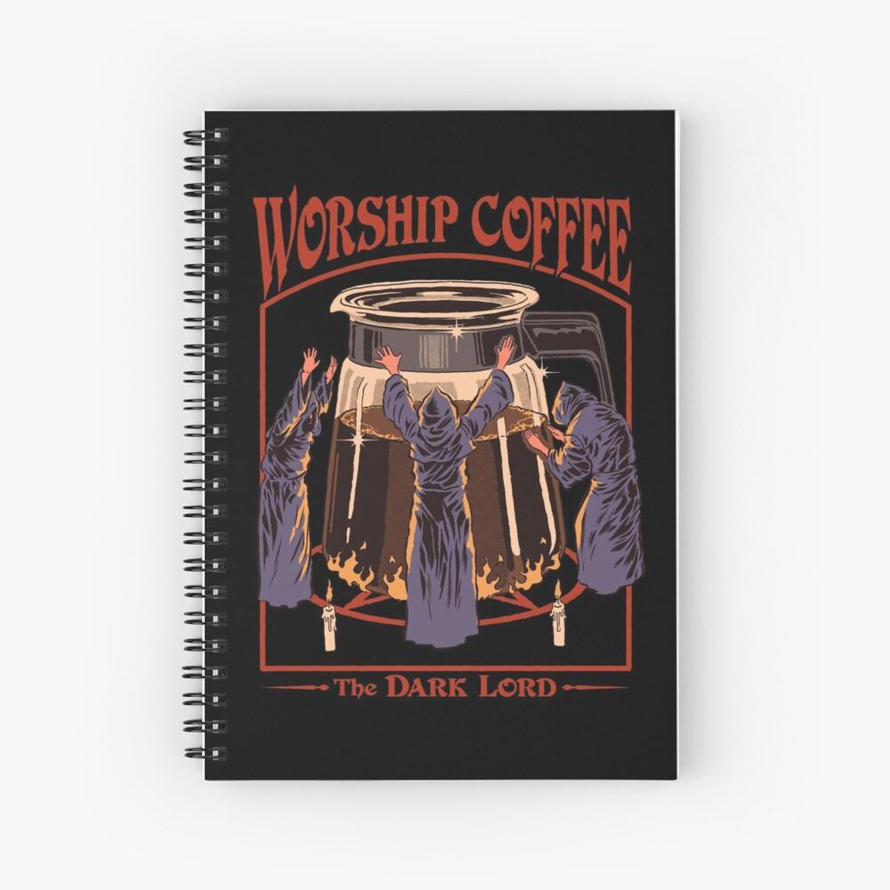 Worship Coffee Spiral Notebook
