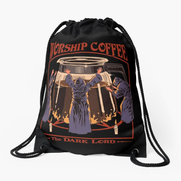Worship Coffee Drawstring Bag