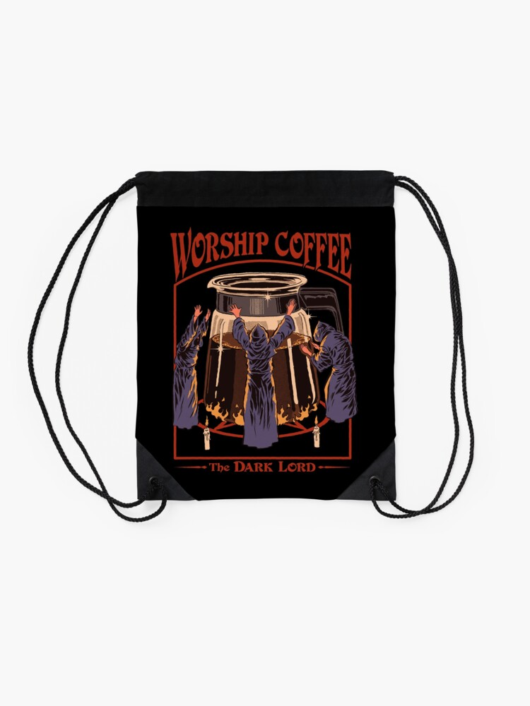 Alternate view of Worship Coffee Drawstring Bag