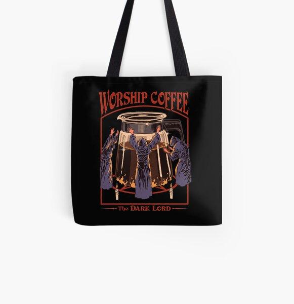 Worship Coffee All Over Print Tote Bag