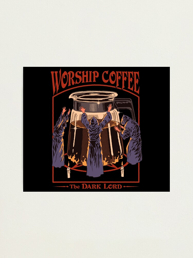 Alternate view of Worship Coffee Photographic Print