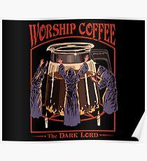 Póster Café de adoración