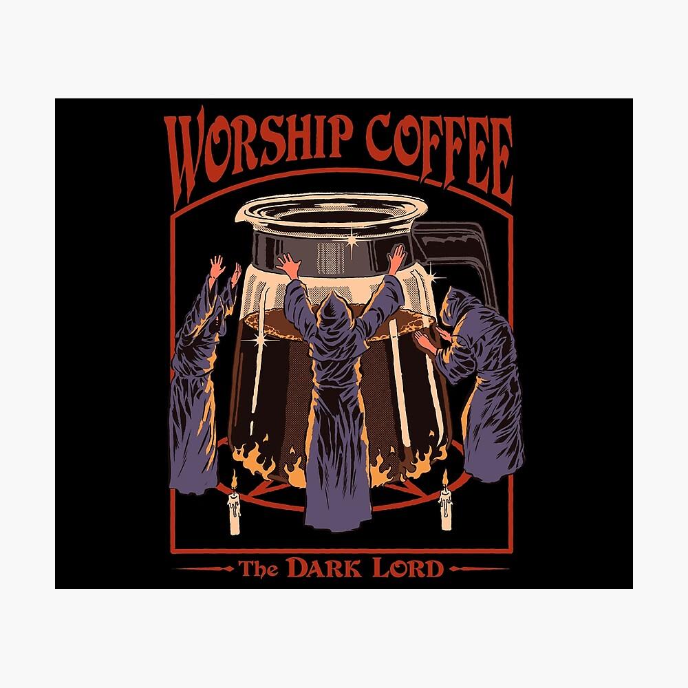 Worship Coffee Photographic Print