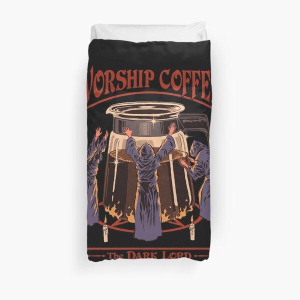 Worship Coffee Duvet Cover