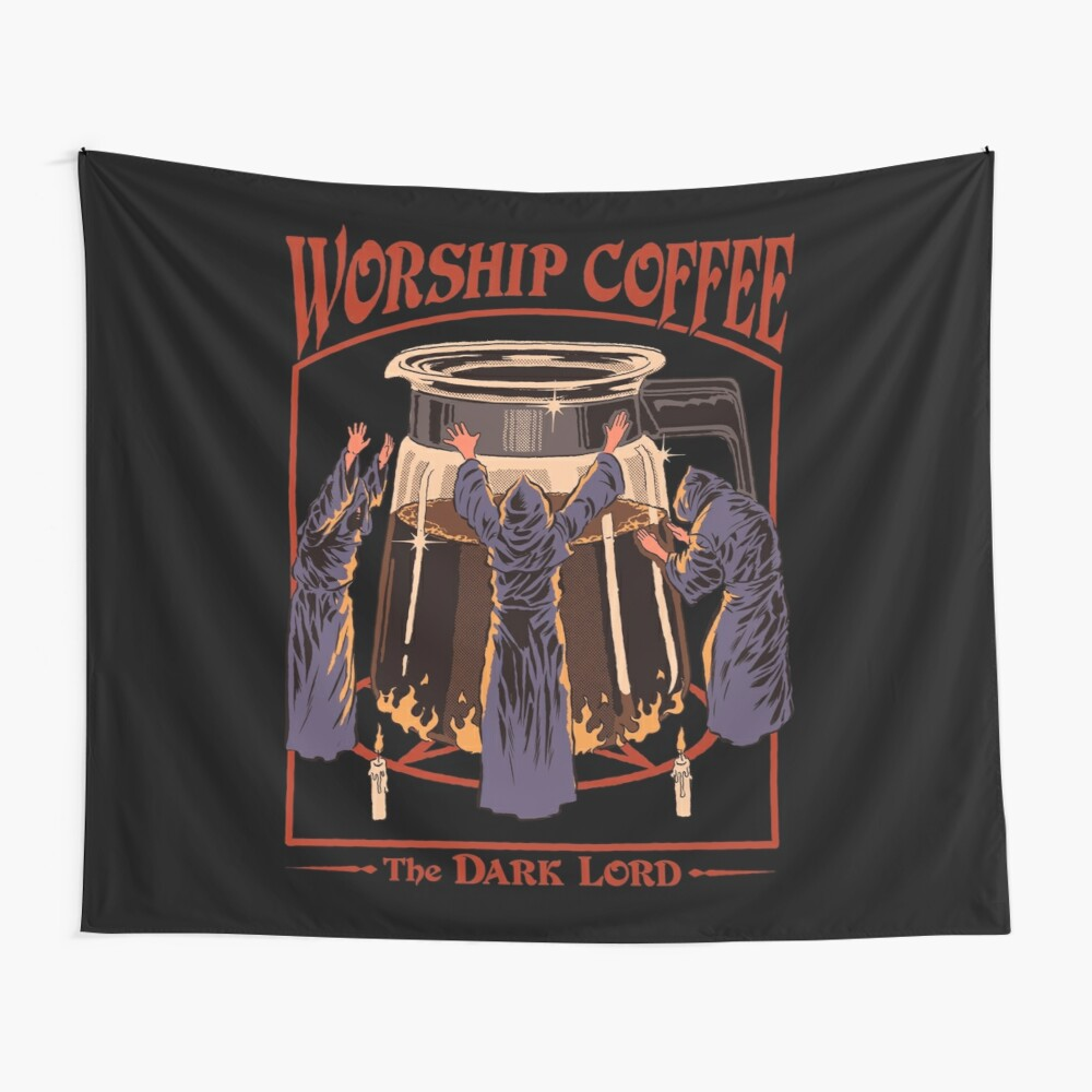 Worship Coffee Wall Tapestry