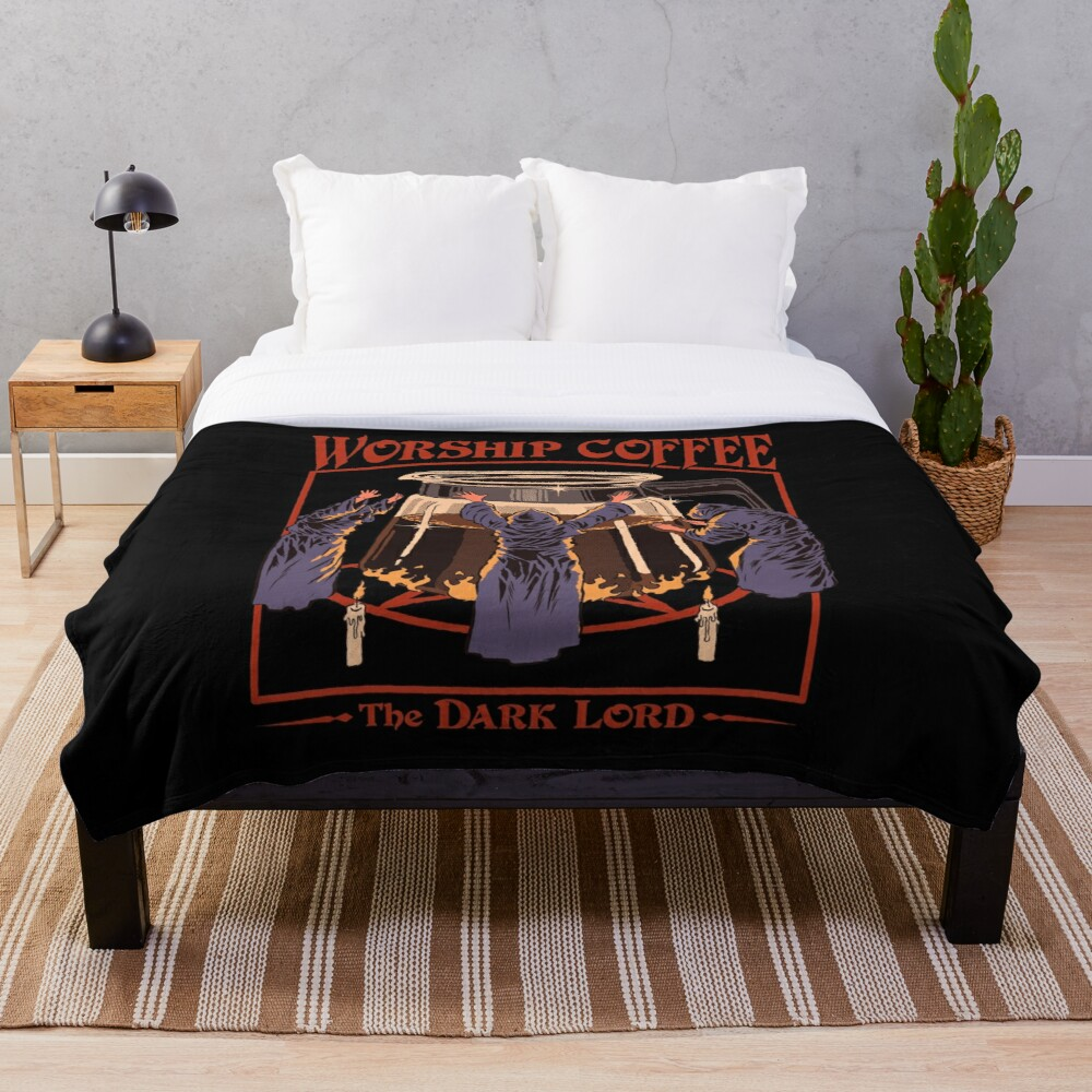 Worship Coffee Throw Blanket