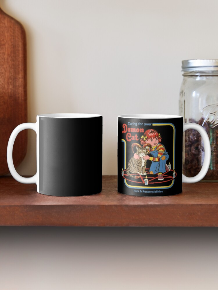 Alternate view of Caring For Your Demon Cat Mug