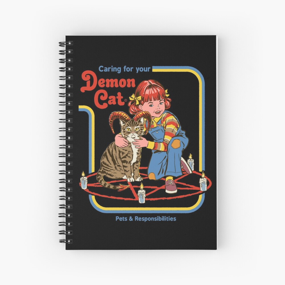 Caring For Your Demon Cat Spiral Notebook