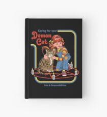 Cuaderno de tapa dura Cuidando a tu gato demonio