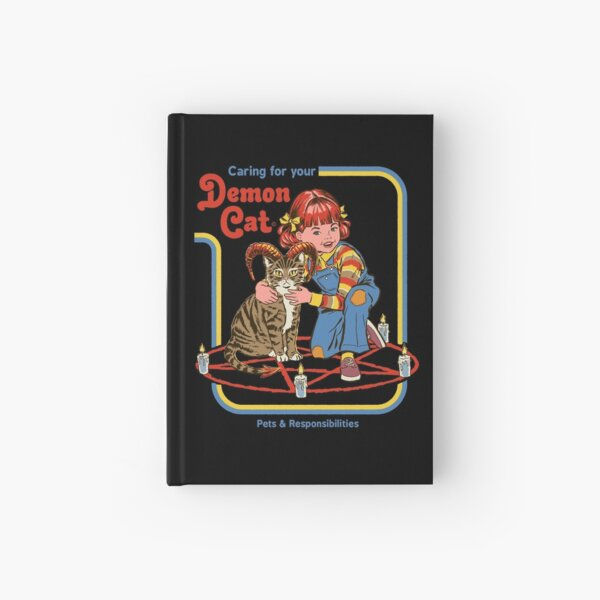 Caring For Your Demon Cat Hardcover Journal