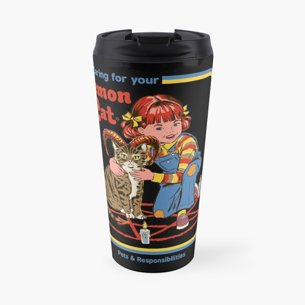 Caring For Your Demon Cat Travel Mug
