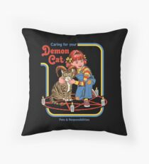 Caring For Your Demon Cat Floor Pillow