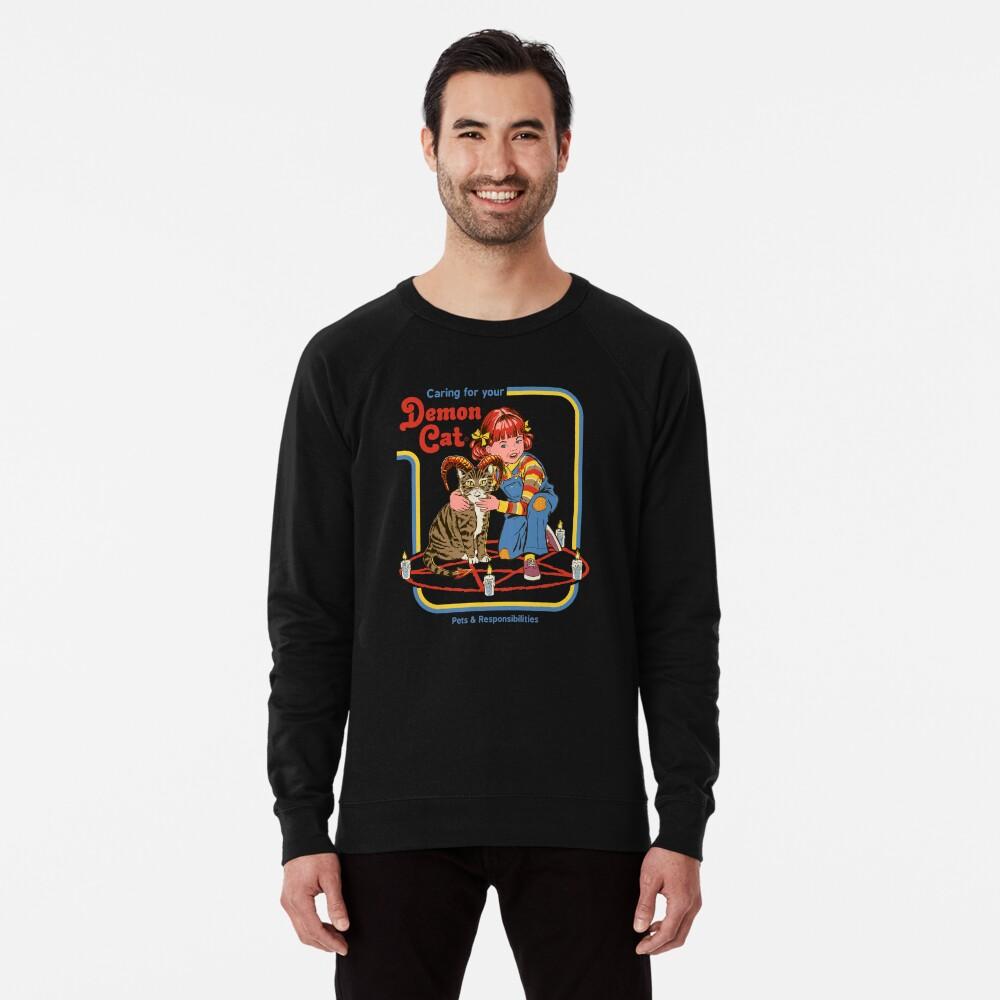 Caring For Your Demon Cat Lightweight Sweatshirt