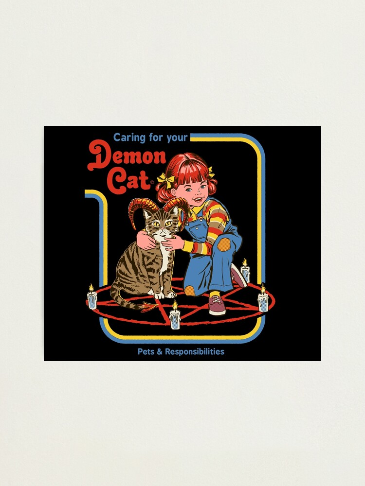 Alternate view of Caring For Your Demon Cat Photographic Print