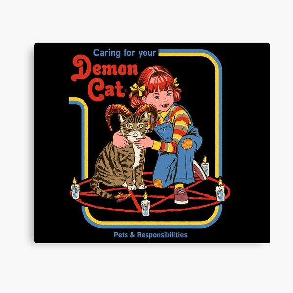 Caring For Your Demon Cat Canvas Print