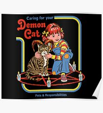Caring For Your Demon Cat Poster