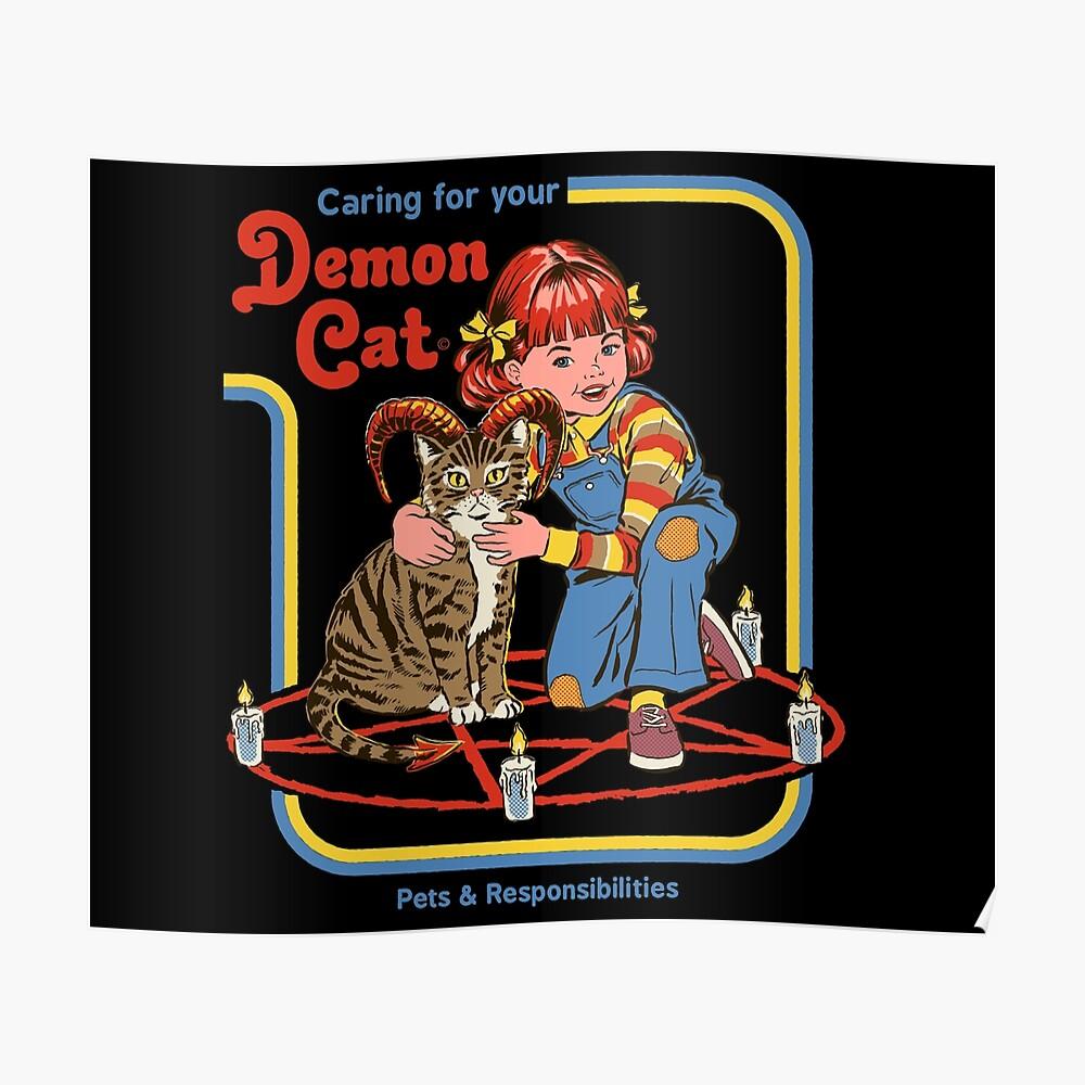 Sorge für deine Dämonenkatze Poster