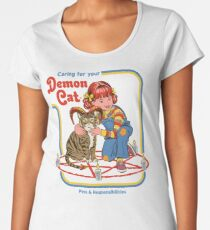 Caring For Your Demon Cat Women's Premium T-Shirt
