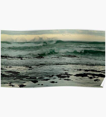 Wispy Surf,Gibson's Beach,Great Ocean Road Poster