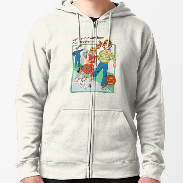 Let's Run Away Zipped Hoodie