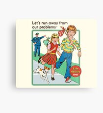 Let's Run Away Metal Print