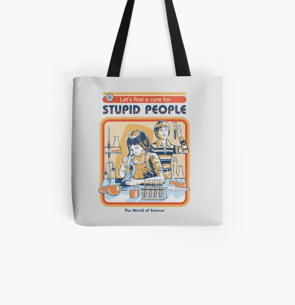 A Cure For Stupid People All Over Print Tote Bag