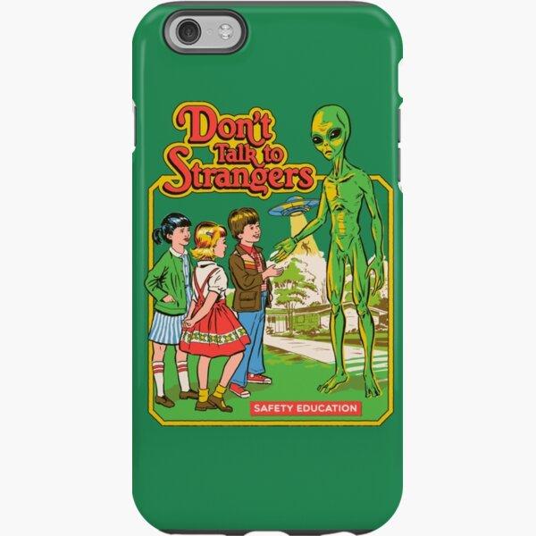Ne parlez pas à des étrangers Coque antichoc iPhone