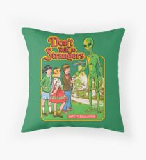 Don't Talk To Strangers Floor Pillow