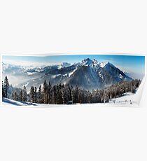 Panoramic vista - Wagrain, Austria Poster