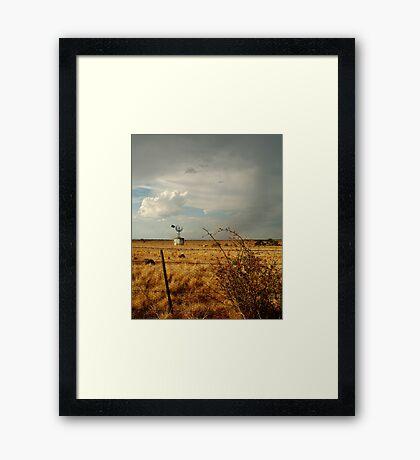 Passing Rain,Rural Geelong Framed Print