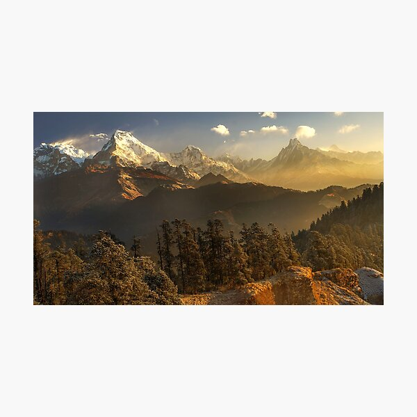 The Annapurna Himalaya, Nepal Photographic Print