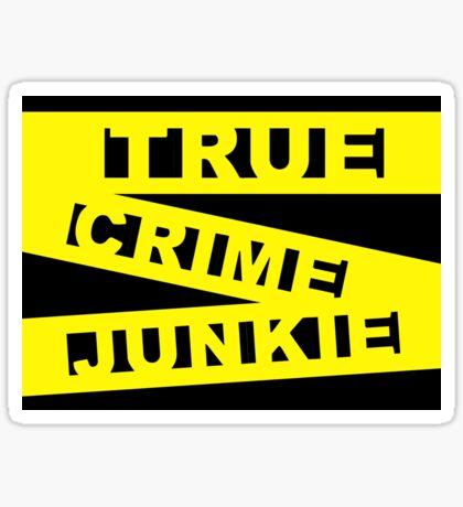 True Crime Junkie - Crime Scene Tape - Police Line Sticker