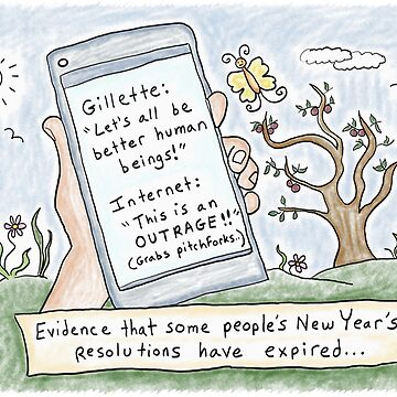 Gillette vs. the Internet -Expired New Year's Resolutions by kpalana