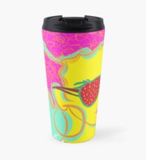 Fresh Fruit- Strawberry Lady Pop Art Travel Mug