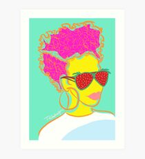 Fresh Fruit- Strawberry Lady Pop Art Art Print