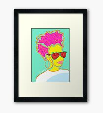 Fresh Fruit- Strawberry Lady Pop Art Framed Print