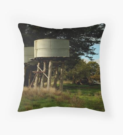 Water Tanks, Macendon Ranges Throw Pillow