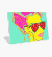 Fresh Fruit- Strawberry Lady Pop Art Laptop Skin