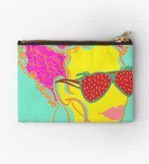 Fresh Fruit- Strawberry Lady Pop Art Zipper Pouch