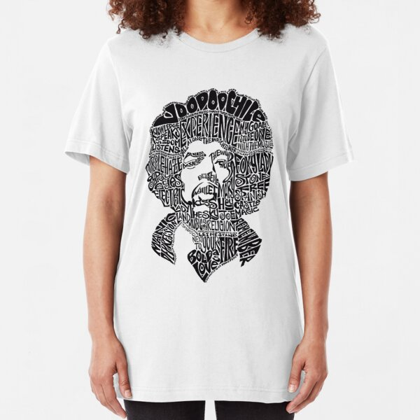 Jimmy Hendrix Legacy Typography [Type A] Slim Fit T-Shirt
