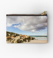 Sea rocks and cloudy sky Studio Pouch
