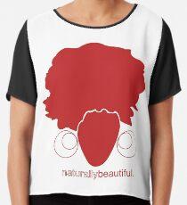 Red Naturally Beautiful Chiffon Top