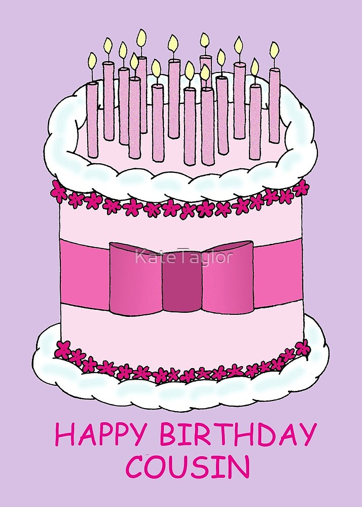Female Cousin Happy Birthday Greeting Card Second Nature Just To